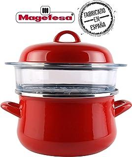 Desconocido Magefesa Cocina de Vapor, diámetro 24, Granate, 24 cm