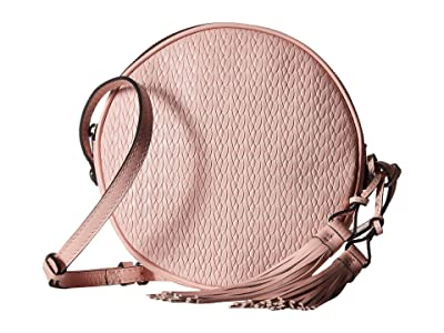 Patricia Nash Twisted Woven Embossed Scafati Canteen Crossbody (Pink) Cross Body Handbags