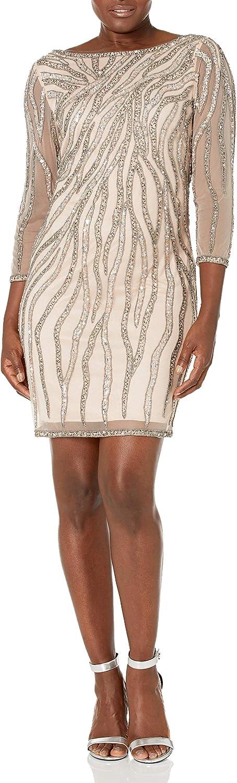 J Kara Women's All Over Beaded Short Dress
