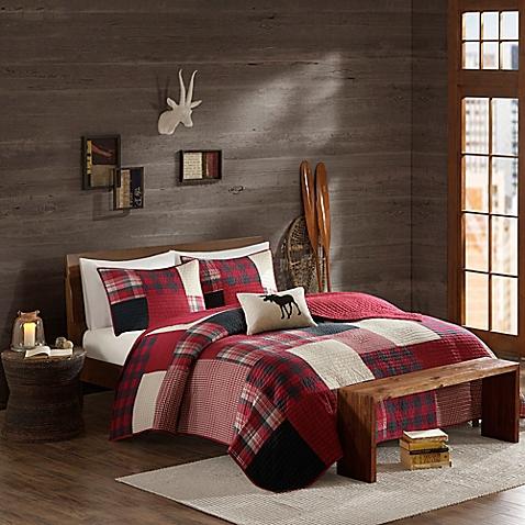 Cedar Ridge Lodge Sunset Quilt in Red - Bed Bath & Beyond