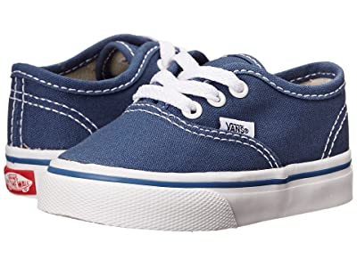 Vans Kids Authentic Core (Toddler) (Navy) Kids Shoes