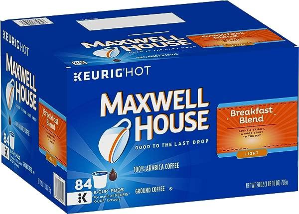 Maxwell House Breakfast Blend Keurig K Cup Coffee Pods 84 Count