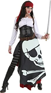 Women's Pirate Costume Jolly Roger Flag Pirate Costume for Women
