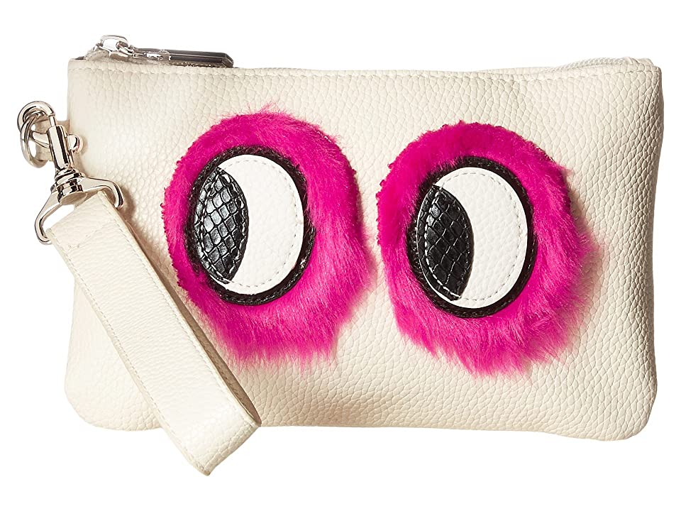 Circus by Sam Edelman Rachael Wristlet w/ Eye Applique (Ivory) Wristlet Handbags