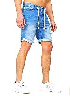 Sportivo Jeans Denim Jogger Pantaloncini Estate Pantaloni Corti Sublevel 98-86 blu scuro