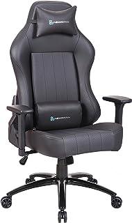 Newskill Akeron - Silla gaming profesional con marco de acero reforzado (sistema de balanceo, reclinable hasta 180 grados, reposabrazos 3D) - Color Negro