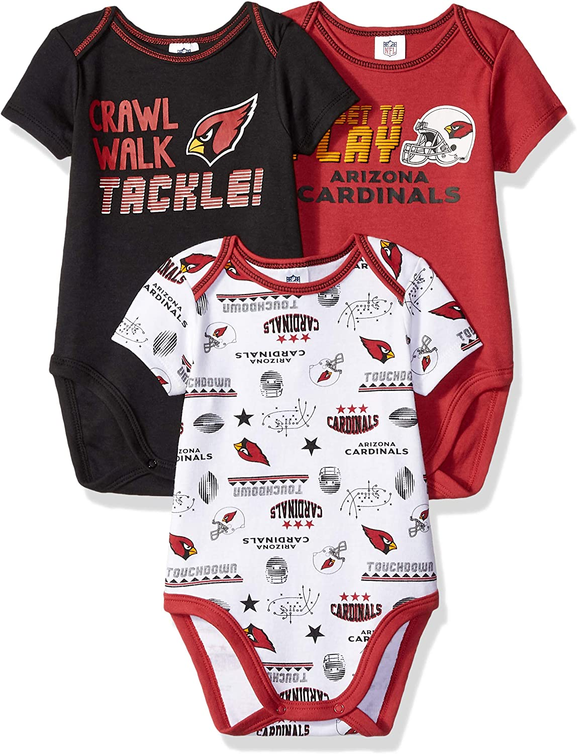 NFL Baby-Boys 3 Pack Bodysuit All items Seasonal Wrap Introduction free shipping Sleeve Short