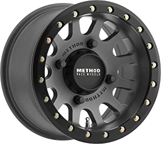 Method Race Wheels MR401 UTV Beadlock Titanium With Matte Black Ring Wheel with Painted (15 x 7. inches /4 x 156 mm, 13 mm Offset)