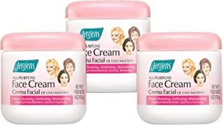 Jergens All-Purpose Face Cream, 6 Ounce (Pack of 3)