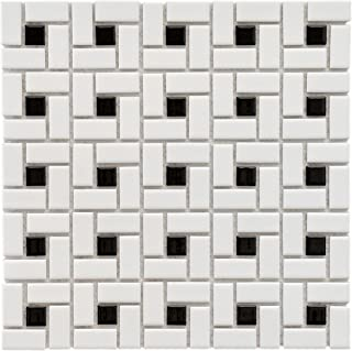 SomerTile FKOMSP20 Retro Spiral Porcelain Floor and Wall Tile, 12.5