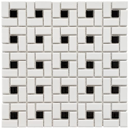 Black And White Tile Floor Amazon Com