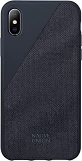 Native Union CLIC Canvas Case - Drop-Proof Protective Cover Made with Premium Woven Fabric for iPhone X (Marine)