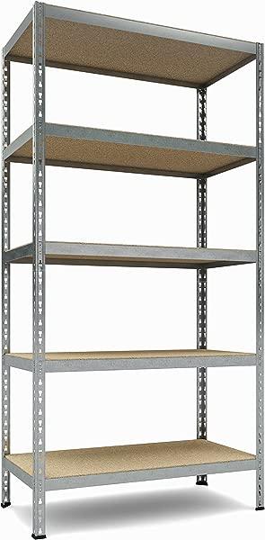 TKT Heavy Duty Shelving 5 Shelf Shelving Unit 1 925lbs Capacity 36 Width X 72 Height X 18 Depth