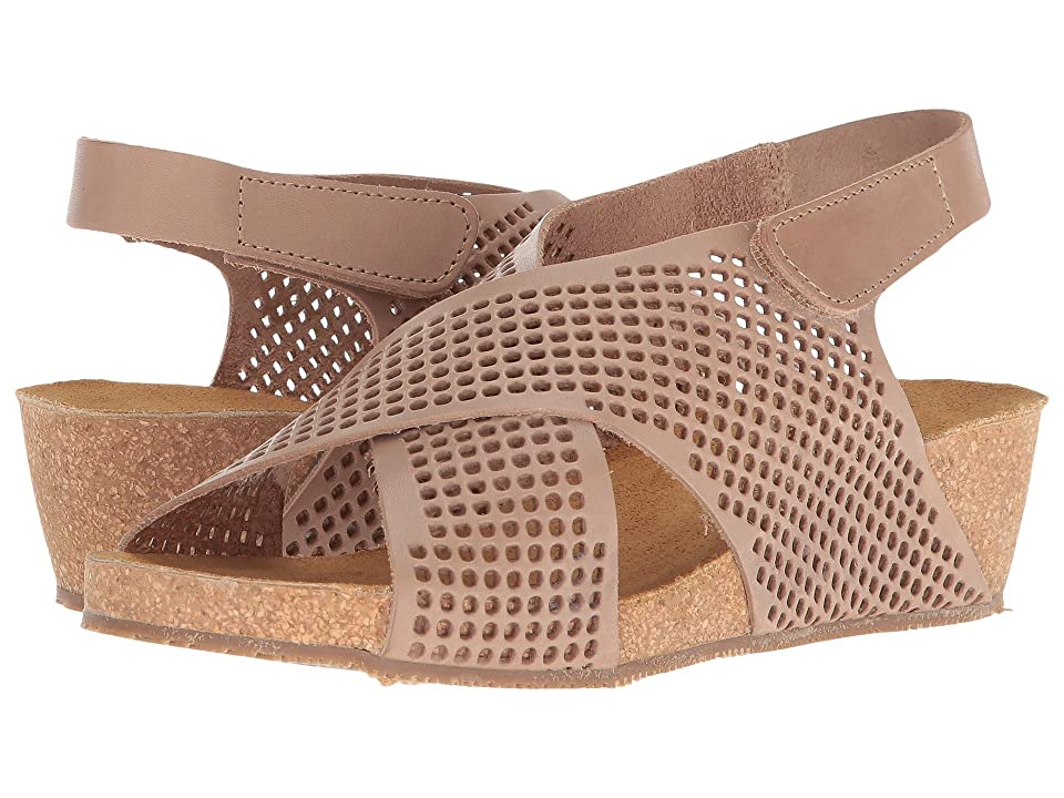Eric Michael August Wedge Sandal (Taupe) Women