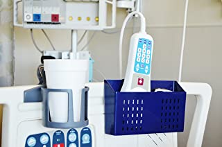 Hospital Bedside Caddy, Bed Organizer,BedsideCaddy for TV Remotes,Cellphones,Books (Blue)
