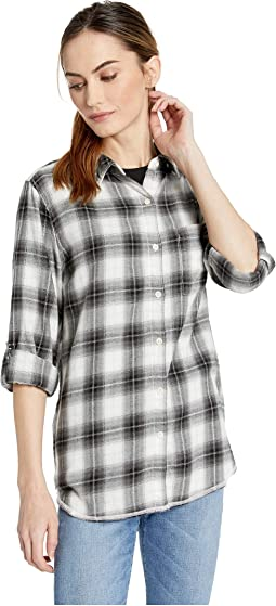 Soft Shadow Plaid One-Pocket Shirt