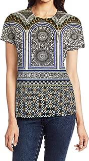 3D Creative Printed Women's Short-Sleeve Crewneck Polyester T-Shirt Casual Tops Tees
