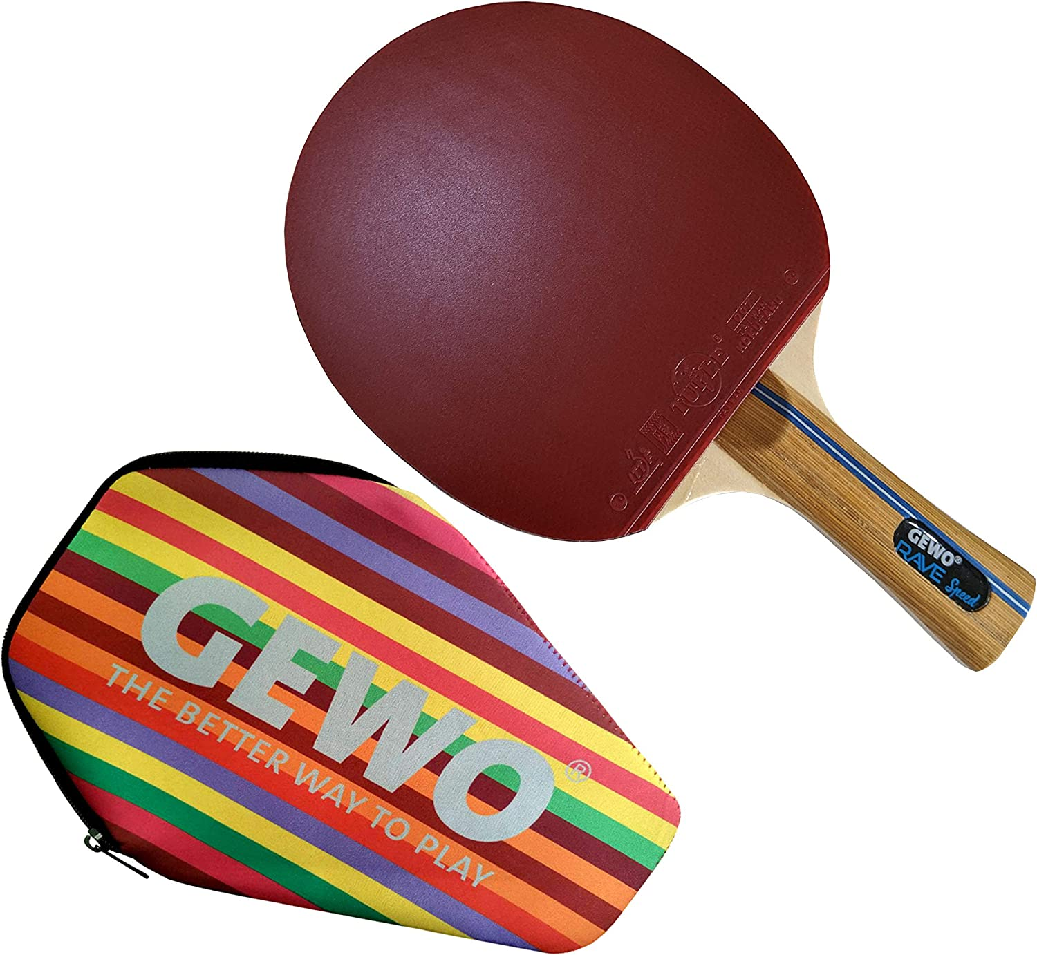 Max 73% OFF GEWO Rave Speed Upgraded Table Tennis with Max 82% OFF CASE. Great Racket Va