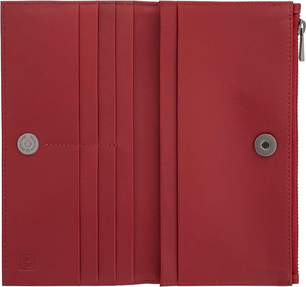 Dudu, portafoglio per donna, porta carte di credito, in vera pelle 8031847174182