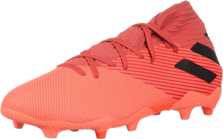 adidas mens Nemeziz 19.3 Firm Ground Soccer Shoe, Coral/Black/Gl