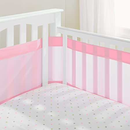 Mesh Crib Bumper Breathable Mesh Crib Liner for Standard Cribs MAMAFLY Baby Breathable Crib Bumpers Pads