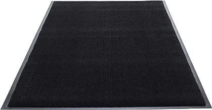 Guardian Silver Series Indoor Walk-Off Floor Mat, Vinyl/Polypropylene, 3'x10', Black