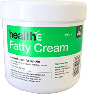 healthE Fatty Emollient Cream Suitable for Dry Skin (SLS FREE) 500g (pot)