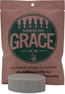 2% Pyrithione Zinc Shampoo Bar with Shea Butter by Grace of Me (4 Oz) (Peppermint)
