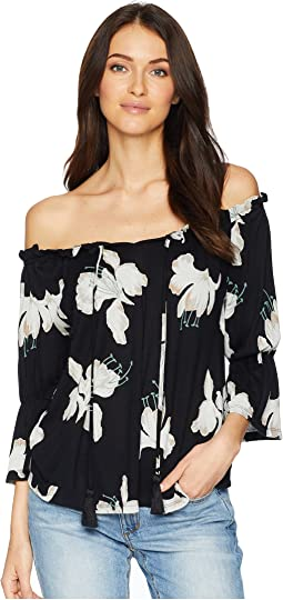 Floral Print Off Shoulder Top