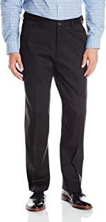 Men's Premium No-Iron Expandable-Waist Plain-Front Pant