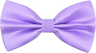 Alizeal Men's Solid Formal Banded Bow Ties Pre-tied