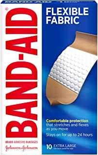 پارچه انعطاف پذیر Bandes Aid Dhesvie Bandages ، فوق العاده بزرگ ، 10 تعداد