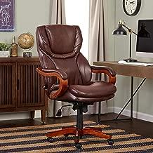 Serta Bonded Leather Big & Tall Executive Chair, Brown