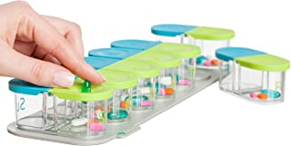 Sagely Smart Weekly Pill Organizer - Sleek AM/PM Twice a Day Pill Box with 7 Day Travel Containers and Reminder App (Large Enough to Fit Fish Oil and Vitamin D Supplements)