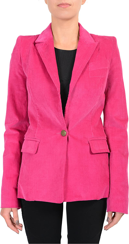 Just Cavalli Pink One Button Corduroy Women's Blazer US S IT 40