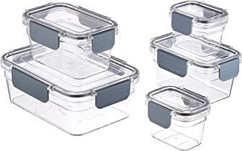 AmazonBasics Tritan 10 Piece Locking Food Storage Container