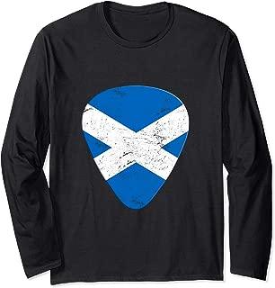 Scotland Flag Guitar Player Pick Plectrum Gift T-shirt