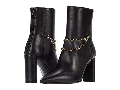 AGL Gold Chain Bootie (Black) Women