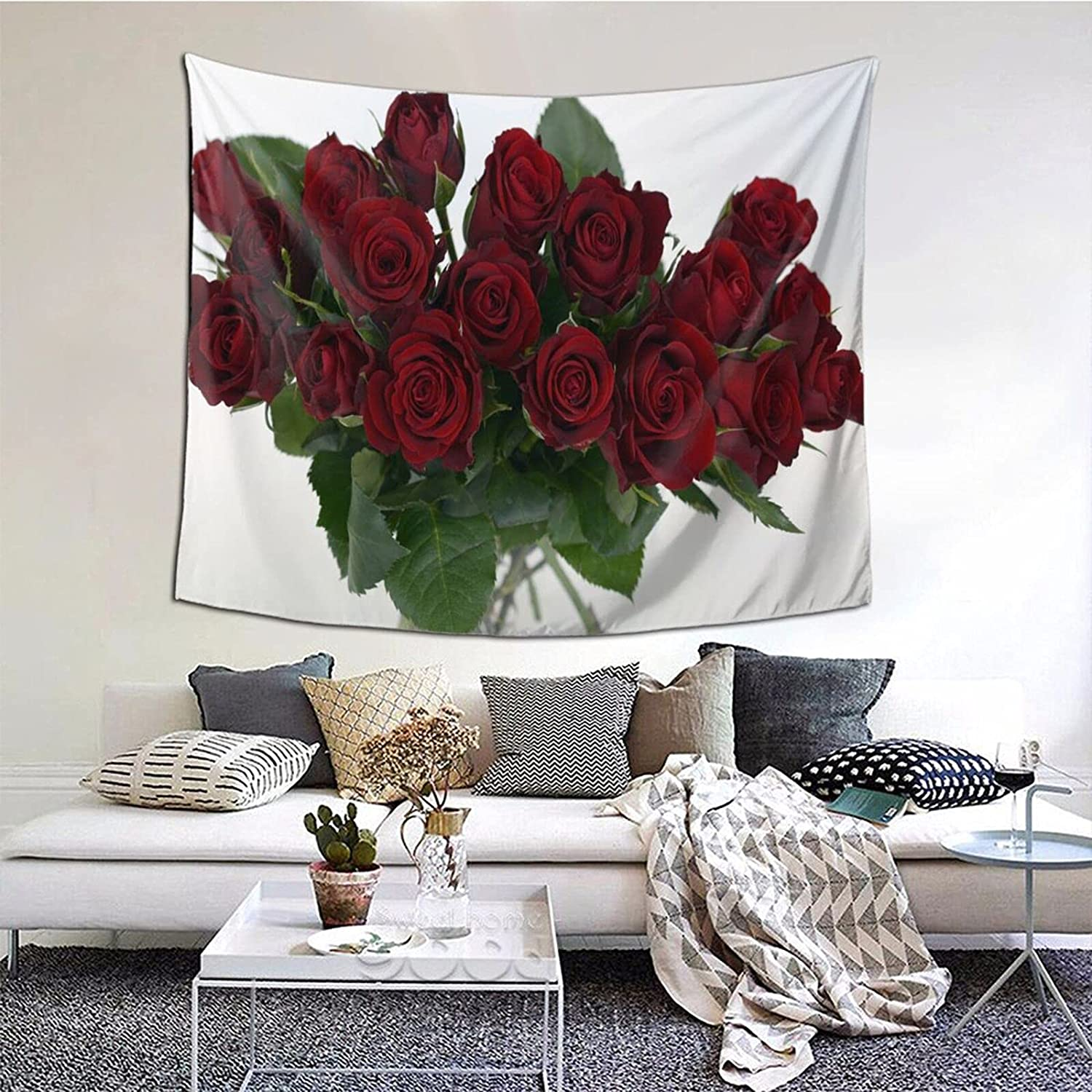 Qzsgwr Flower Series Tapestry San National products Antonio Mall 60 Colorful Hippi Multiple 51 Inch