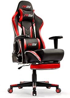 IntimaTe WM Heart Chaise Gaming, Fauteuil Gamer de Bureau en Similicuir Racing Chaise de Gamer avec Repos-Pieds, Chaise d'...