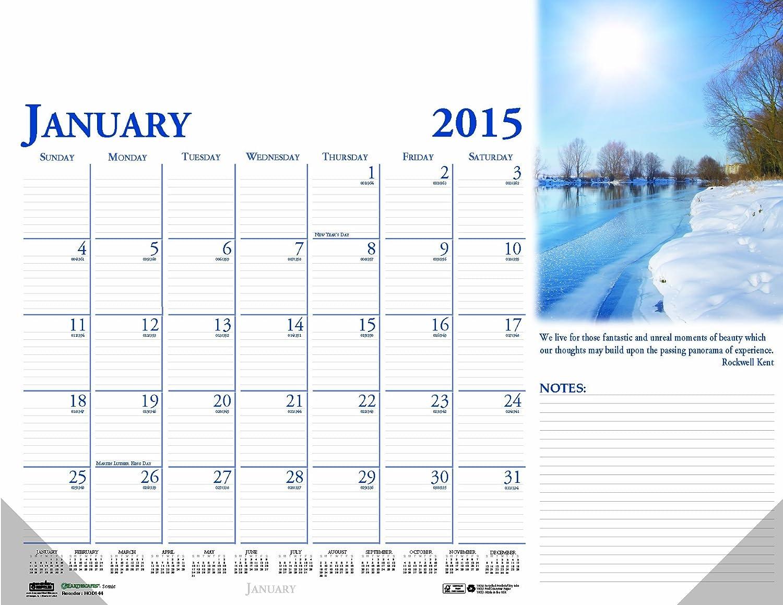 House of Doolittle Earthscapes Compact Scenic Schreibunterlage Kalender 12 Monate Januar 2015 bis Dezember 2015, 47 x 33 cm, Farbe Foto, klar Ecken, recyceltem (hod0144) B00K23DUIY | Zürich