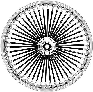 Ride Wright Wheels Inc Omega Black 50 Spoke 21x3.5 Front Wheel (Single Disc), Color: Black, Position: Front, Rim Size: 21 04235-45-99SD-OM-BLKSP-T