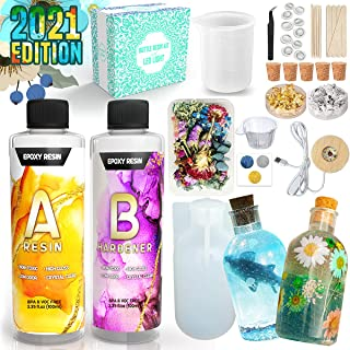 Zoncolor Bottle Resin Molds Silicone Kit - Night LED Light Lamp Bulb Art Craft Accessories Supplies and Tools DIY Unique C...