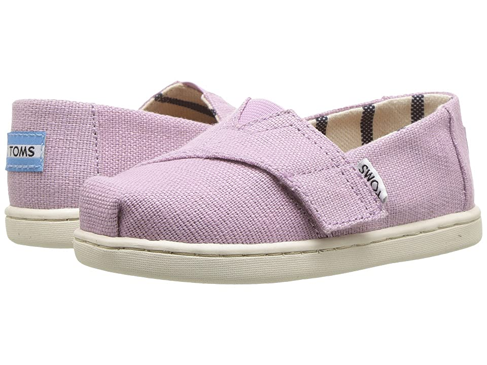 TOMS Kids Venice Collection Alpargata (Infant/Toddler/Little Kid) (Soft Lilac Heritage Canvas) Girl