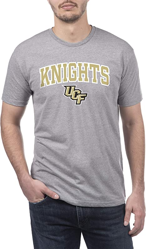 Top of the World NCAA Mens Sustainable Recycled Performance Gray Heather Fabric Short Sleeve Tee