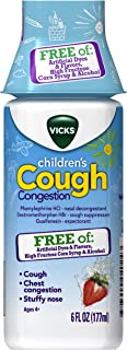 Vicks Children's Cough & Congestion Relief, Free of Artificial Dyes & Flavors, 6 Ounce