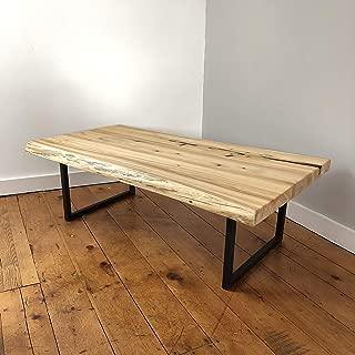 Live Edge Cedar Coffee Table with Steel Base