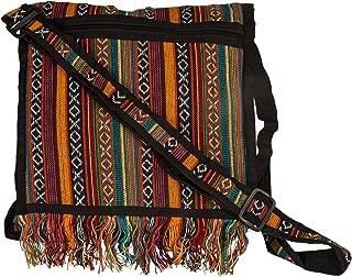 Tribe Azure Woven Adjustable Strap Shoulder Bag Hobo Messenger Women Fashion Handbag Unique Roomy Tassel