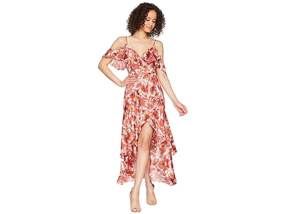 Bardot Frankie Frill Dress (Azure Floral) Women