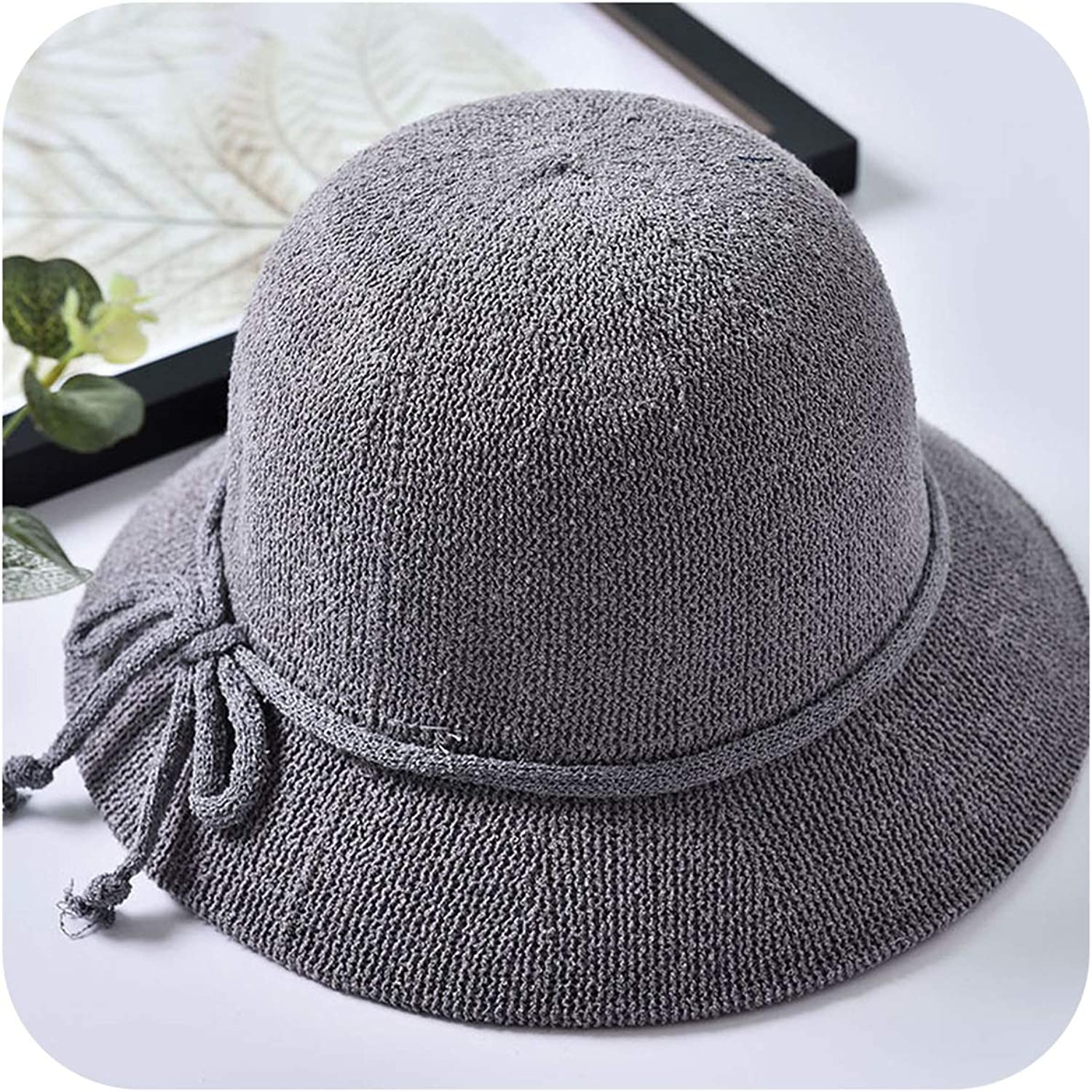 Biubiu infantandtoddlerhats Summer Lady Fisherman Hat Casual Solid color Breathable Sun Hat